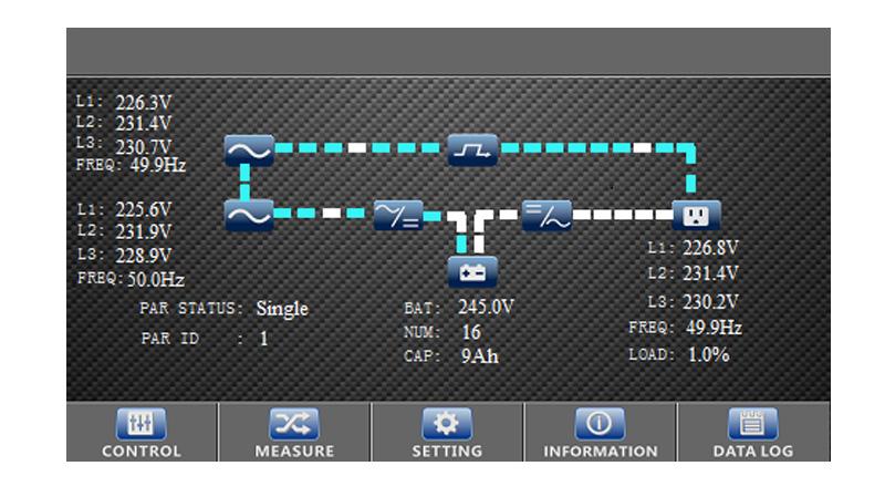 SAI Phasak trifásica-trifásica 10000VA Online LCD