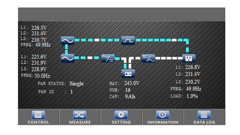 SAI Phasak trifásica-trifásica 20000 VA Online LCD