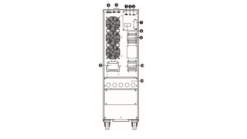 UPS Phasak trifásica-trifásica 30000VA Online LCD